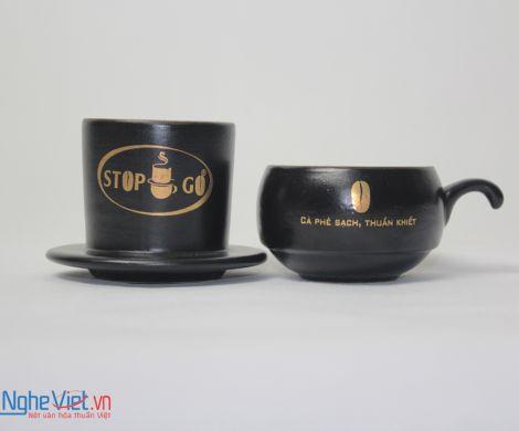 Phin cafe gốm in logo số 6 MNV-CL006