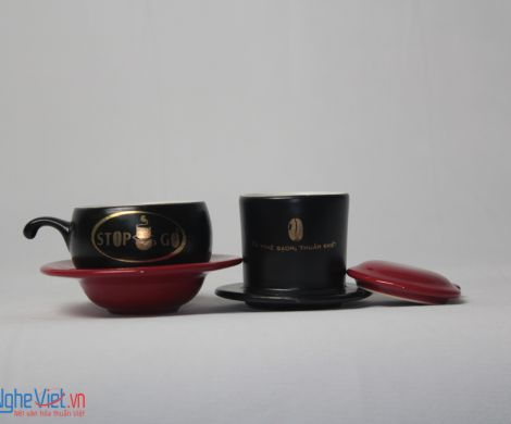 Phin Cafe Gốm In Logo Số 7 MNV-CL007