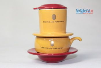 Phin cafe gốm in logo số 4 MNV-CL004