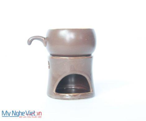 Bếp đun cafe gốm sứ nâu đất MNV-BD03