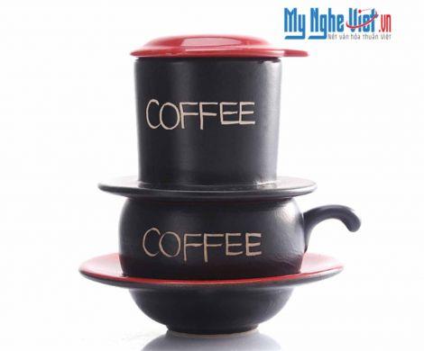 Phin Cafe Gốm Màu Đỏ Thấp MNV-CF001