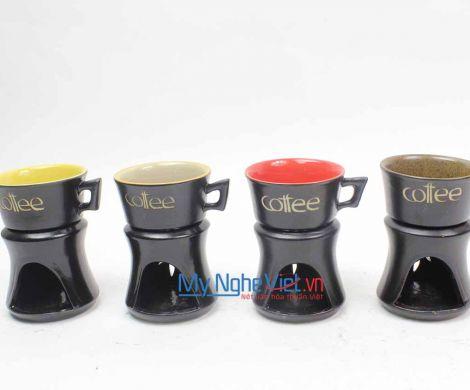 Bếp đun cafe quai loe trung  (nhiều màu) MNV-BD06