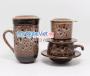 Combo ly lọc trà + phin cafe thấp men Hỏa Biến MNV-CFM001-1 màu trắng đen
