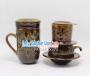 Combo ly lọc trà + phin cafe thấp men Hỏa Biến MNV-CFM001 màu xanh non