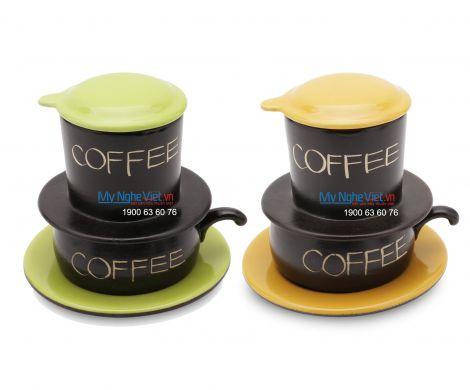 Combo 2 Phin Cafe Gốm Thấp MNV-CF001/2C