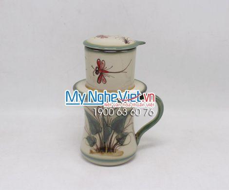 Phin Cafe Men Bóng Vẽ Chuồn MNV-CFV002-2