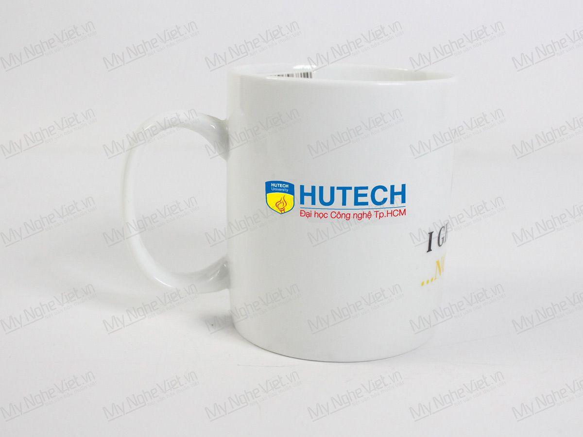 Ly Trắng Quai C Logo Hutech MNV-LST01