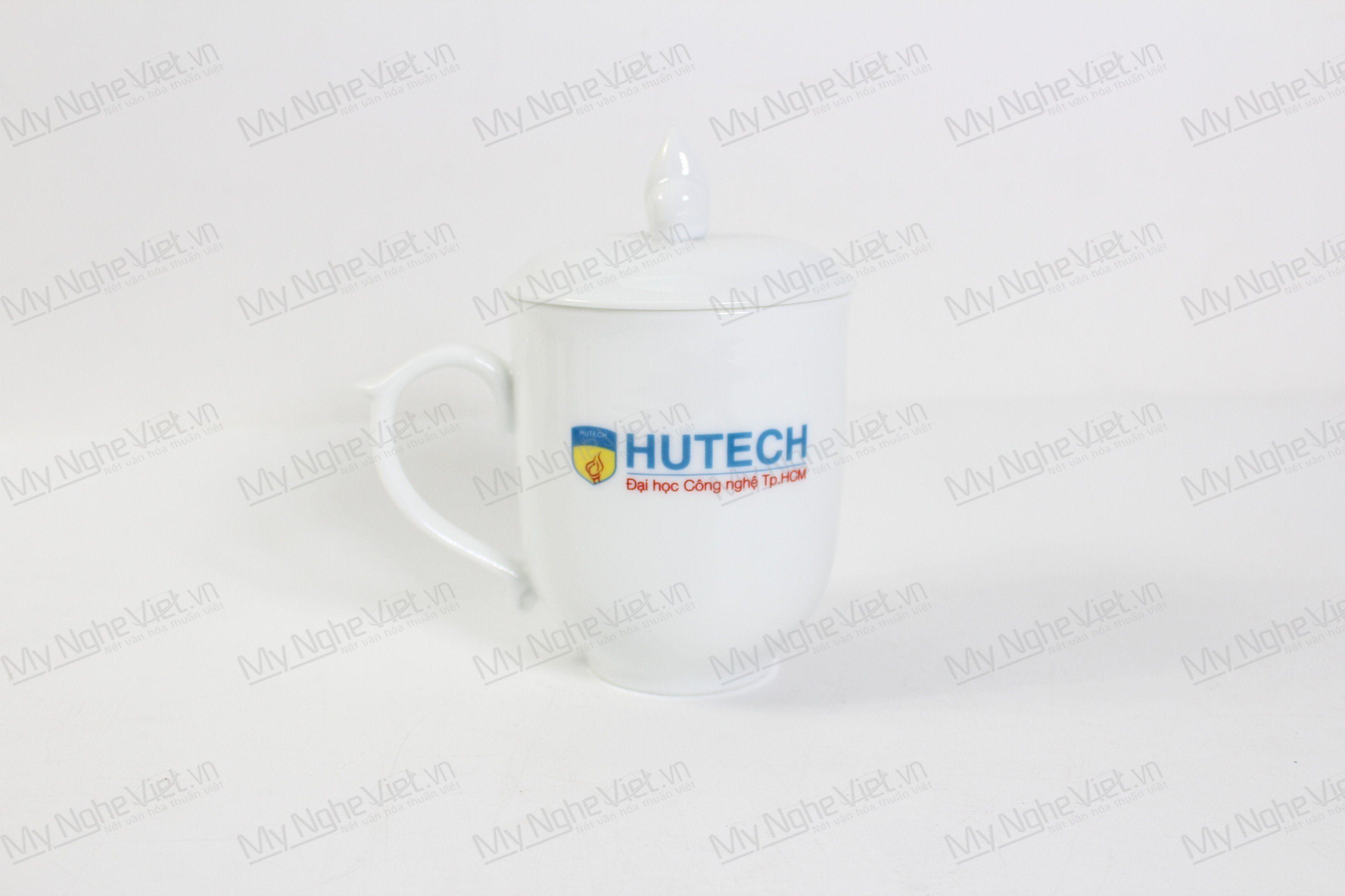 Ly Trắng Nắp Ngọn Đuốc Logo Hutech MNV-LST02