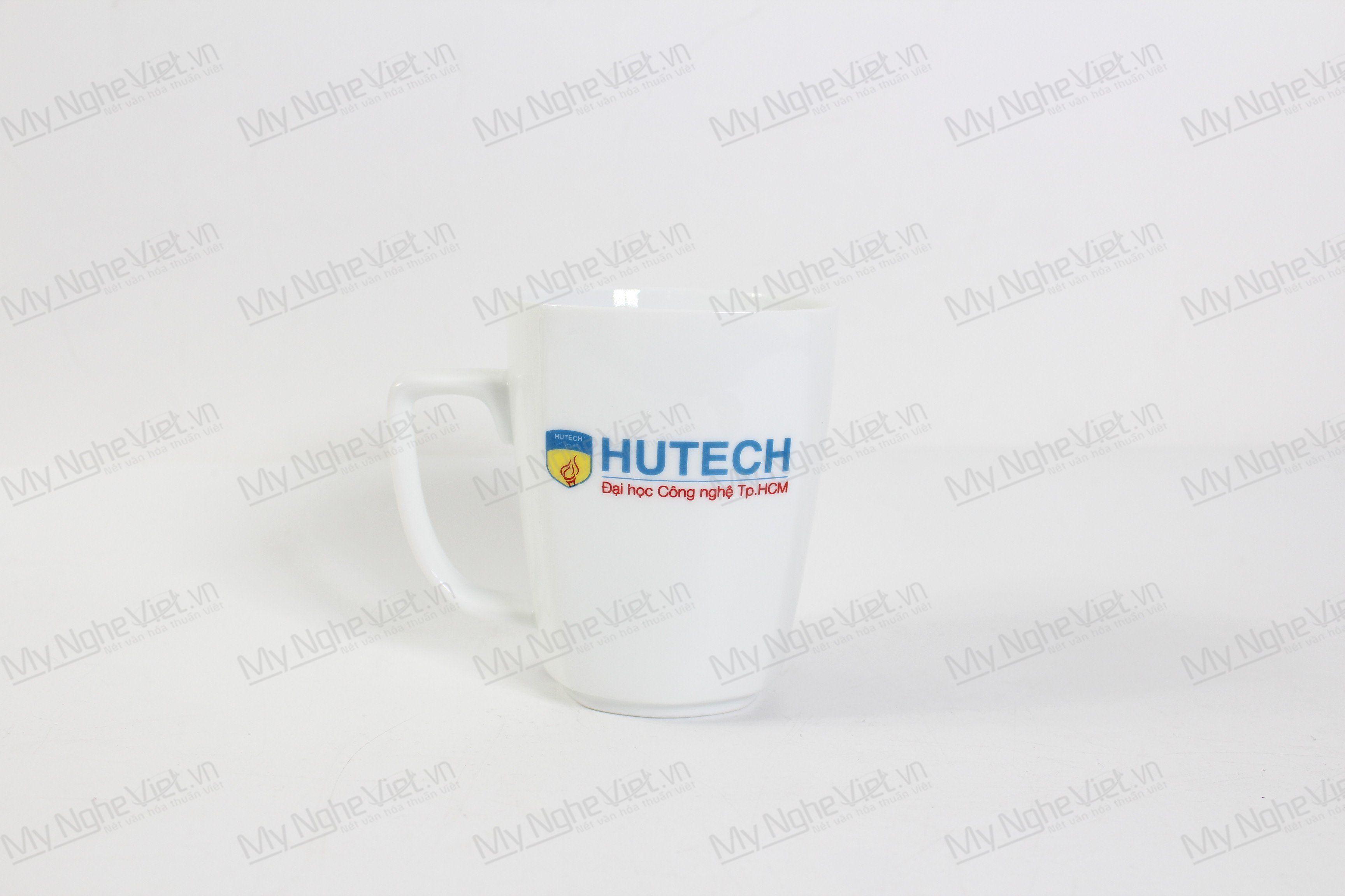 Ly Trắng Vuông Logo Hutech MNV-LST03