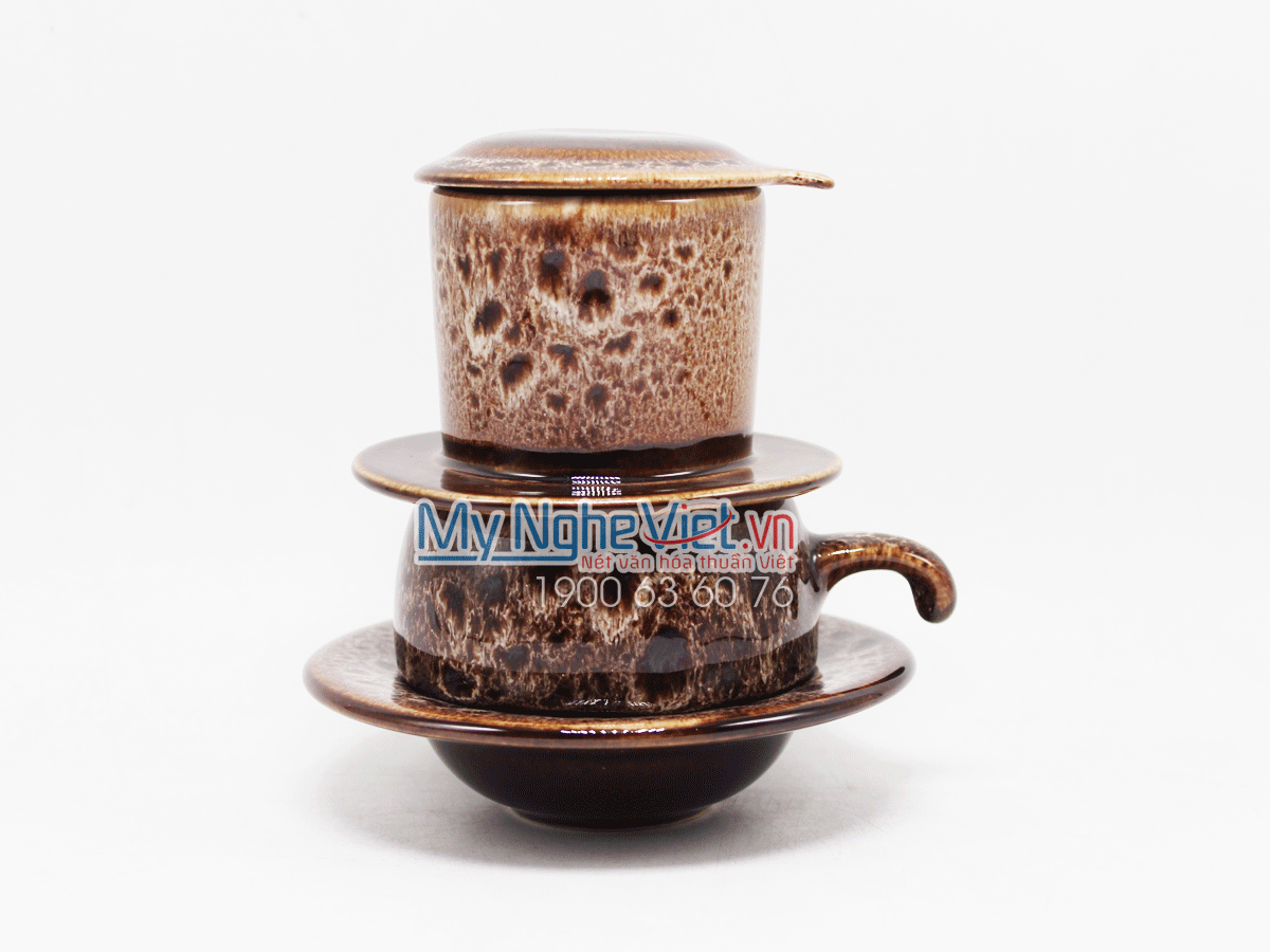 Phin cafe thấp men Hỏa Biến đen trắng MNV-CFM001-1