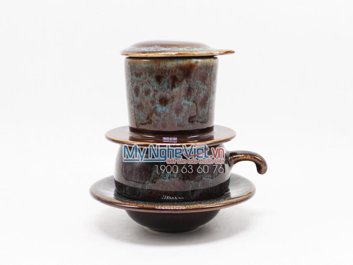 Phin cafe thấp men Hỏa Biến xanh dương MNV-CFM001-5