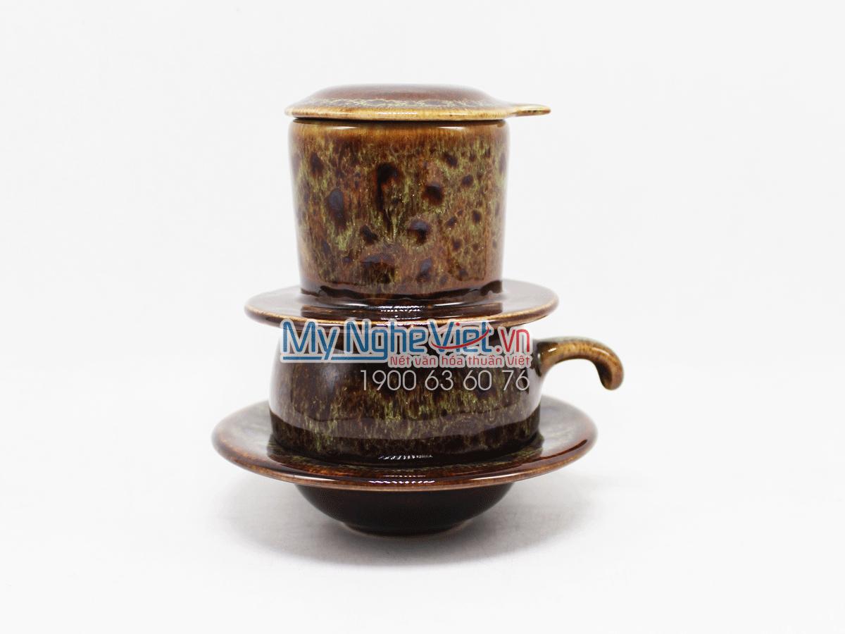 Phin cafe thấp men Hỏa Biến màu xanh non MNV-CFM001