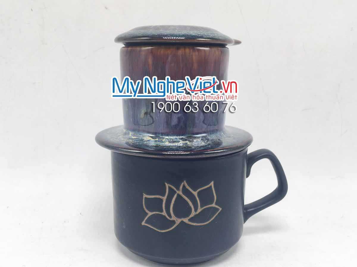 Phin Cà Phê Men Hỏa Biến Vẽ Sen MNV-GHN001