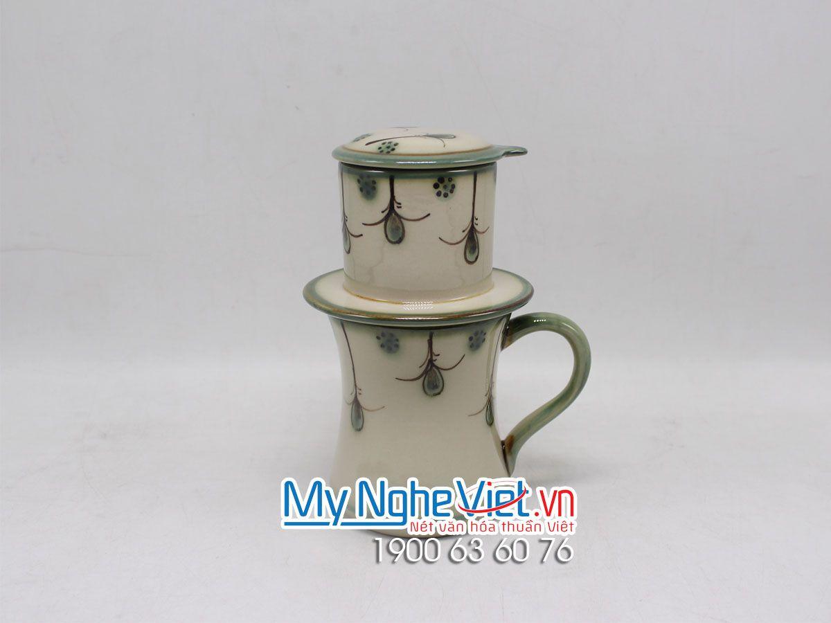 Phin Cafe Men Bóng Vẽ Hoa Rơi MNV-CFV002-4