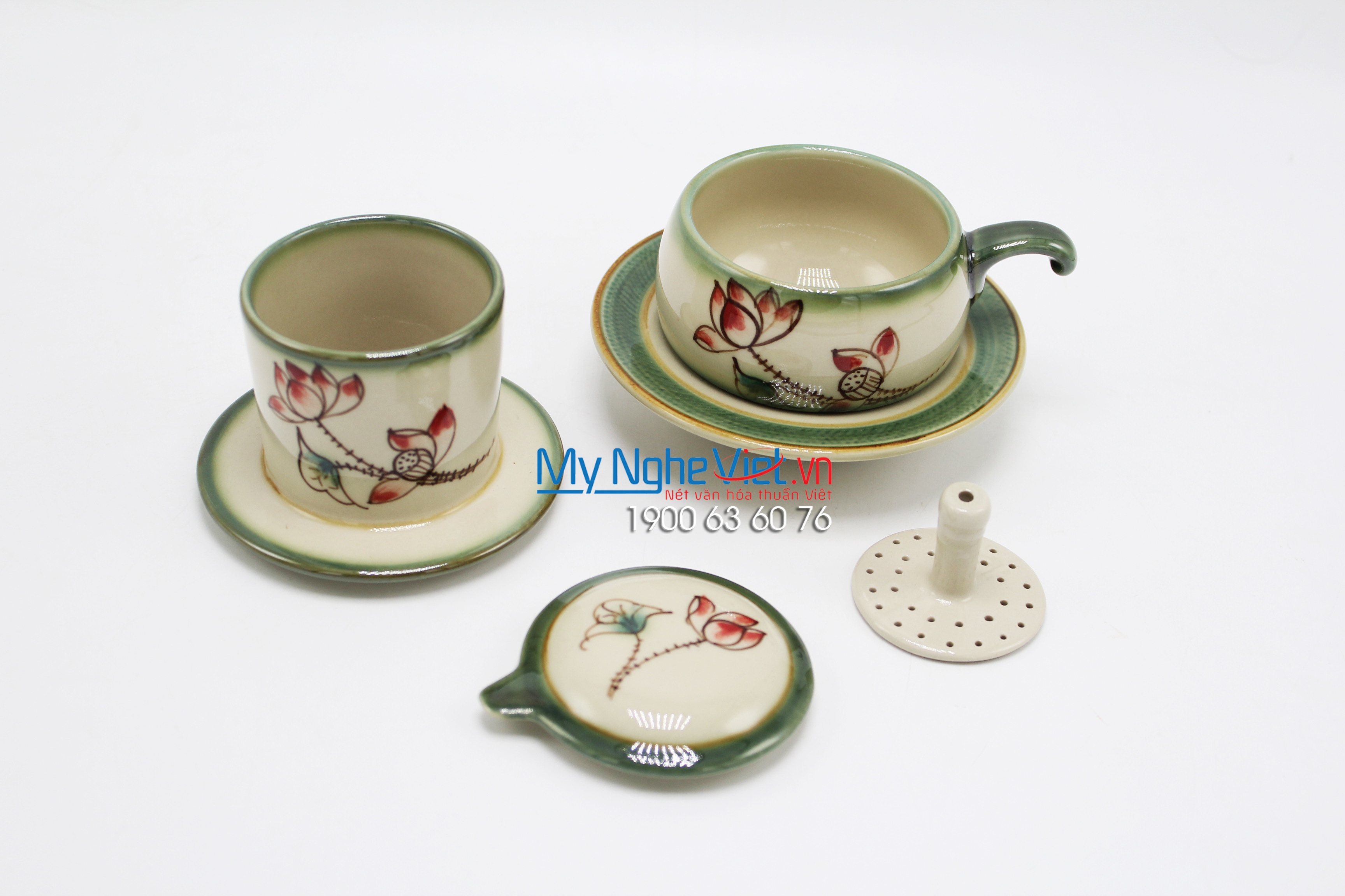 Coffee filter (dripper) with Lotus Flower MNV-CFV001-4